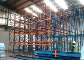 Installated rack at warehouse
